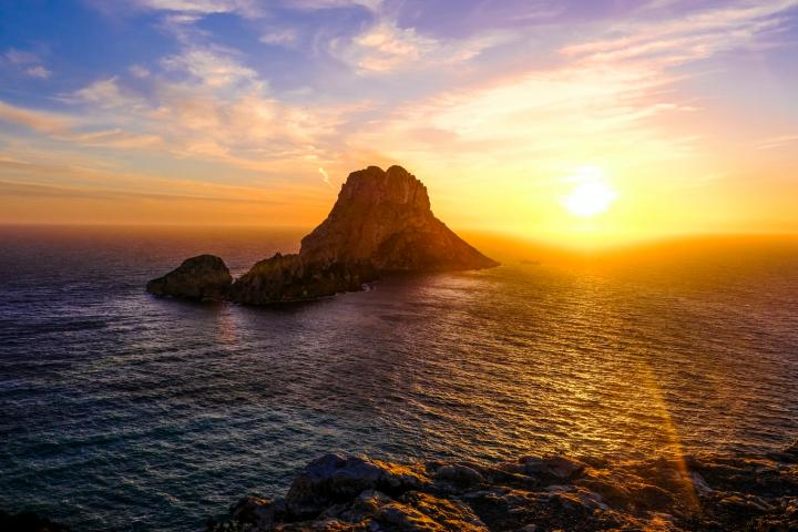 The famous tiny island offers the most stunning sunset