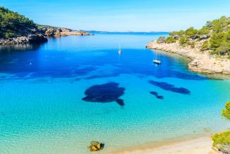Secluded bay in Ibiza